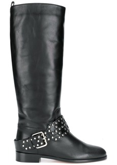 RED Valentino RED(V) studded buckle strap boots