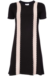 RED Valentino studded detail T-shirt dress