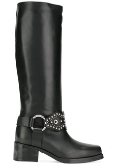 RED Valentino studded knee-length boots