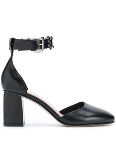 RED Valentino RED(V) studded side-buckle pumps