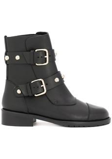 RED Valentino RED(V) studded strap boots