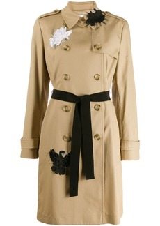 RED Valentino swan appliqué trench coat