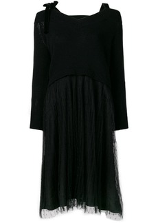 RED Valentino sweater tulle dress