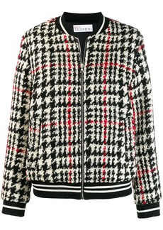 RED Valentino tartan knit bomber jacket
