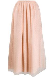 RED Valentino tulle pleated midi skirt