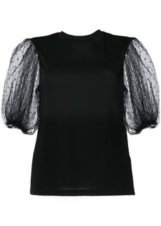 RED Valentino tulle puff sleeves blouse