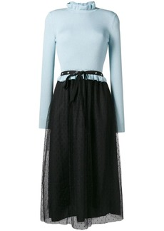 RED Valentino tulle skirt knitted dress