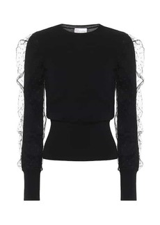RED Valentino Tulle-trimmed sweater