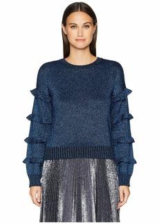RED Valentino Vanise Wool Lurex Yarn Sweater