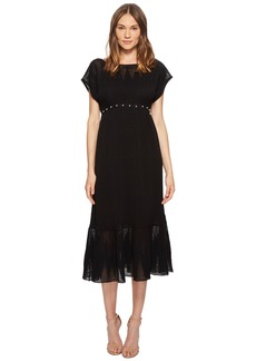 RED Valentino Zagana Embroidery Knit Dress with Boules