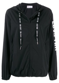 RED Valentino zip up hooded jacket