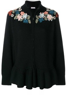 RED Valentino zipped floral jumper