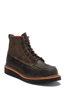 Red Wing Contrasting Leather Moc Toe Boot