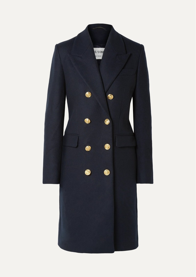 Re/Done 60s Double-breasted Wool-blend Coat