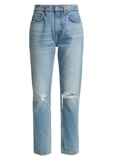 Re/Done 70s Destroyed Straight-Leg Jeans