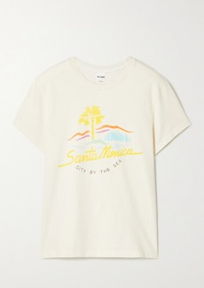 Re/Done 70s Printed Cotton-jersey T-shirt