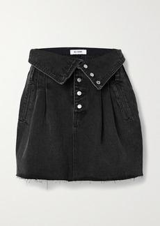 Re/Done 80s Fold-over Denim Mini Skirt