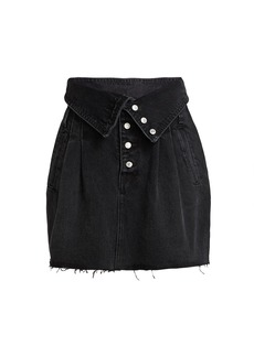 Re/Done 80s Foldover Waist Denim Skirt