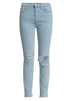 Re/Done 80s Slim Straight Ripped Jeans