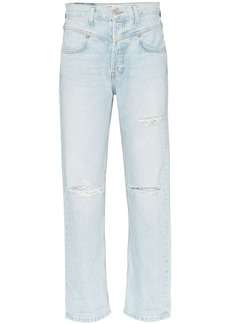 Re/Done '90s distressed straight leg jeans