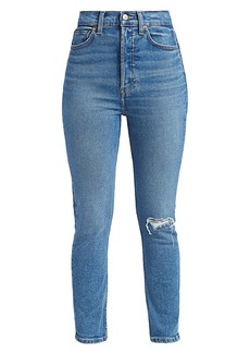 Re/Done 90s Ultra High-Rise Ankle Crop Skinny Jeans