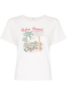 Re/Done Aloha Hawaii printed T-shirt