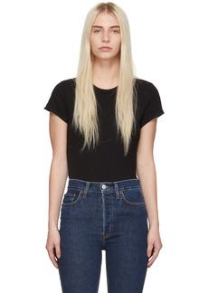 Re/Done Black 1960s Slim Tee Bodysuit