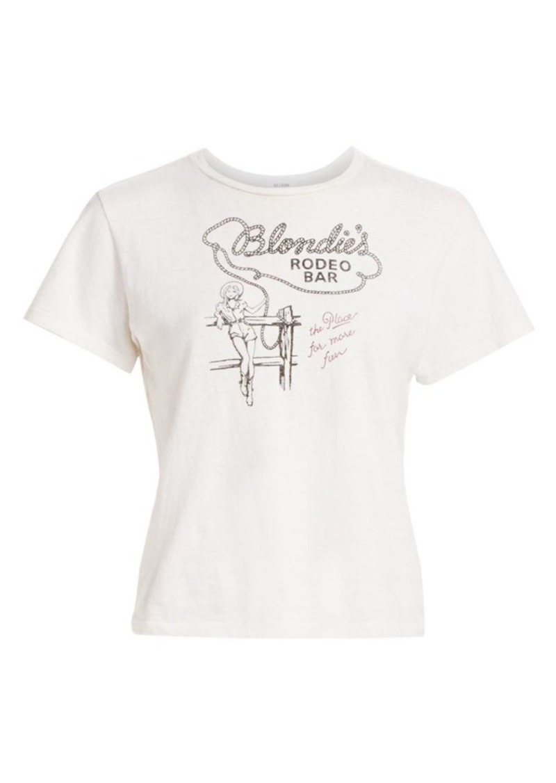 Re/Done Blondie's Rodeo Bar Classic Cotton Tee