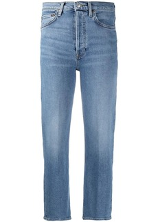 Re/Done button-fly cropped jeans