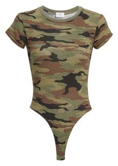 Re/Done Camo Slim T-Shirt Bodysuit
