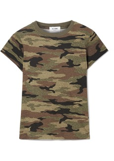 Re/Done Camouflage-print Slub Cotton-jersey T-shirt