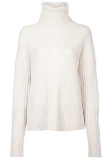 Re/Done Chunky Rib Turtleneck Sweater - Ivory