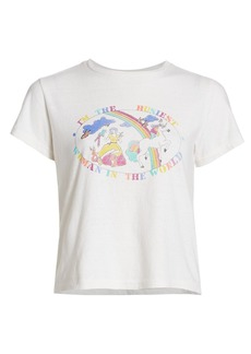 Re/Done Classic Busiest Woman Cotton T-Shirt