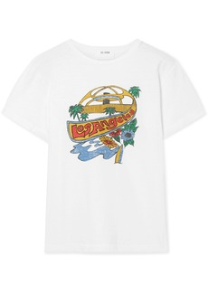 Re/Done Classic Printed Cotton-jersey T-shirt