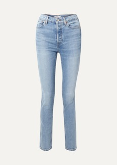 Re/Done Comfort Stretch Double Needle High-rise Skinny Jeans