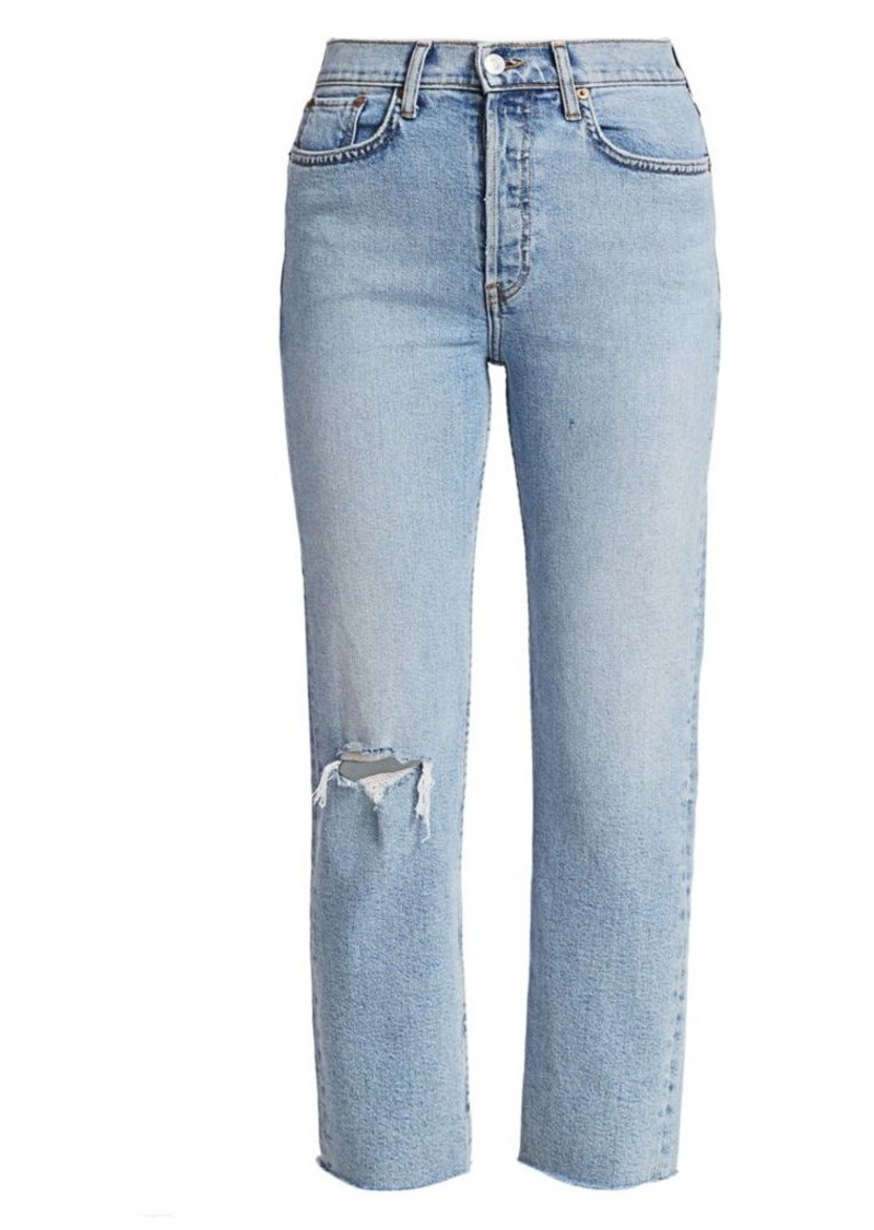 Re/Done Comfort-Stretch High-Rise Stove Pipe Jeans