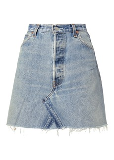 Re/Done Core Denim Mini Skirt