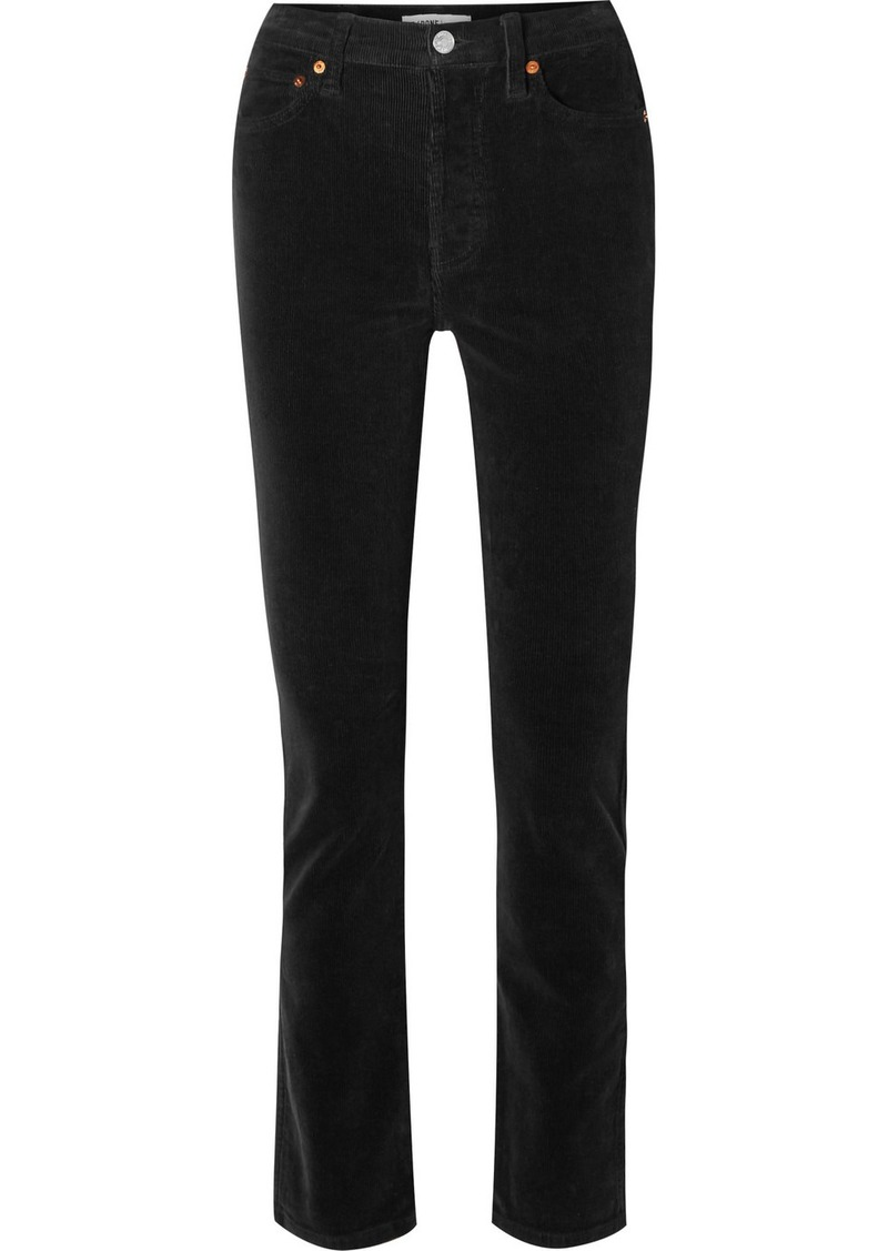 Re/Done Cotton-blend Corduroy Straight-leg Pants