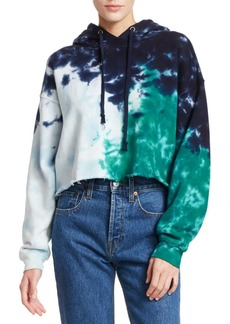 Re/Done Cropped Raw Hoodie