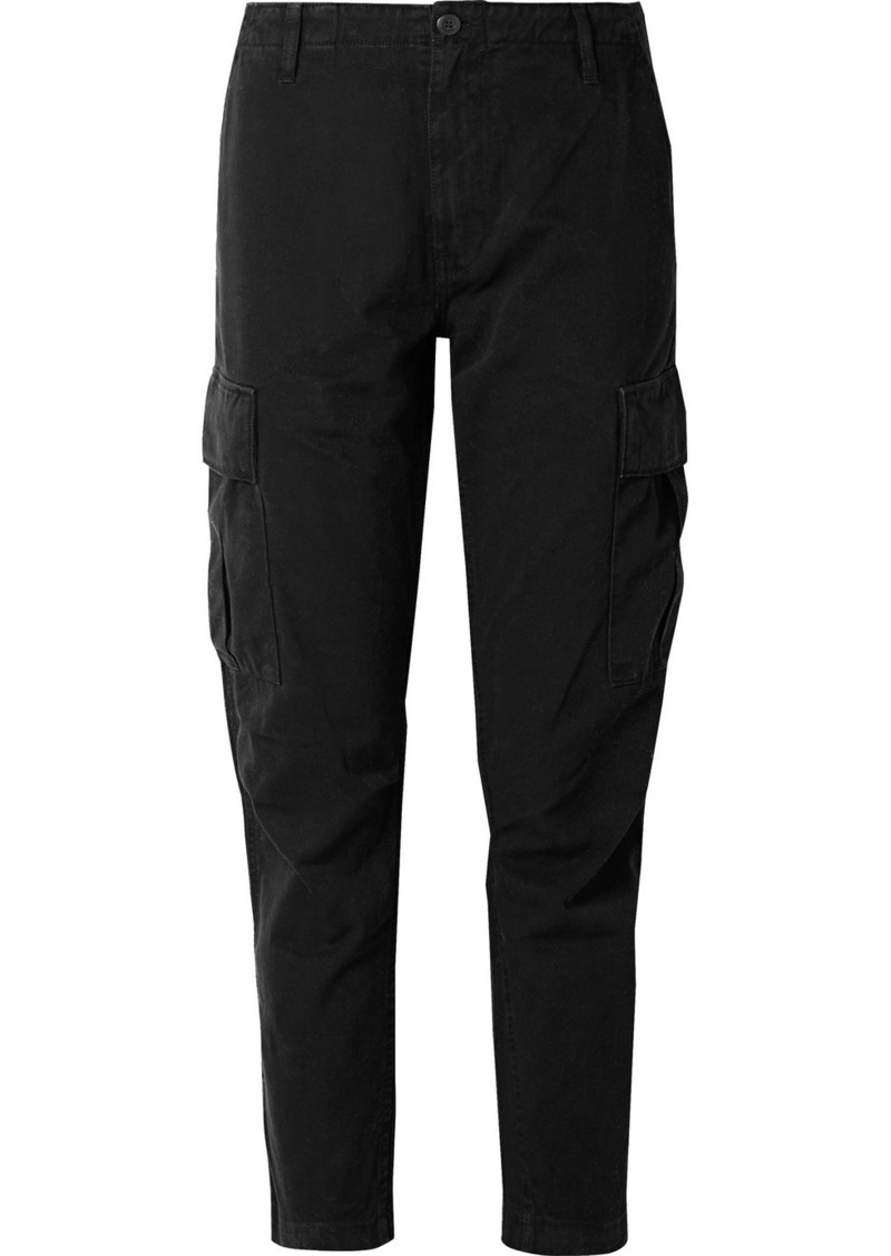 Re/Done Cropped Cotton-twill Pants