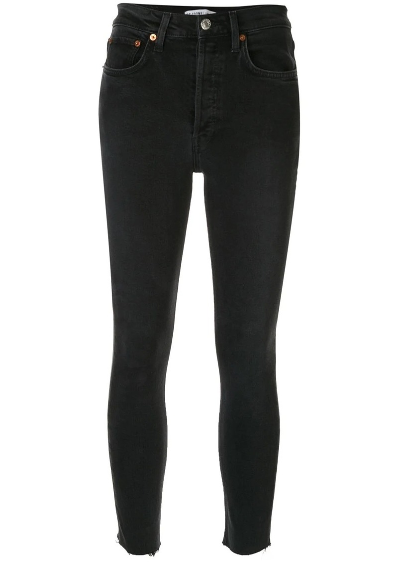 Re/Done cropped skinny-fit jeans