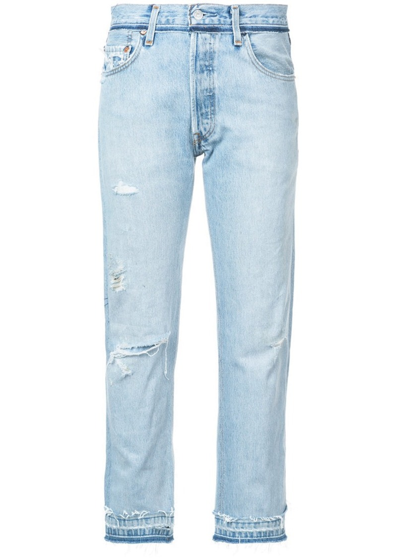 Re/Done distressed cropped jeans