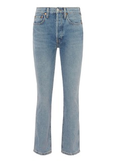 Re/Done Double Needle Crop Jeans