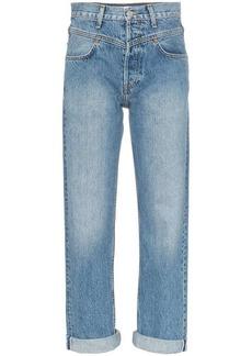 Re/Done double yoke straight-leg jeans