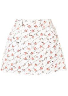 Re/Done floral denim skirt