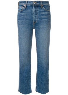 Re/Done frayed hem cropped jeans