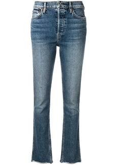 Re/Done frayed hem slim-fit jeans