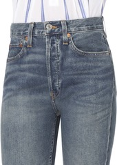 Re/Done High-Rise Ankle Crop Dark Wash Jeans