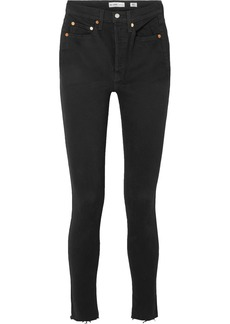 Re/Done High Rise Ankle Crop Skinny Jeans