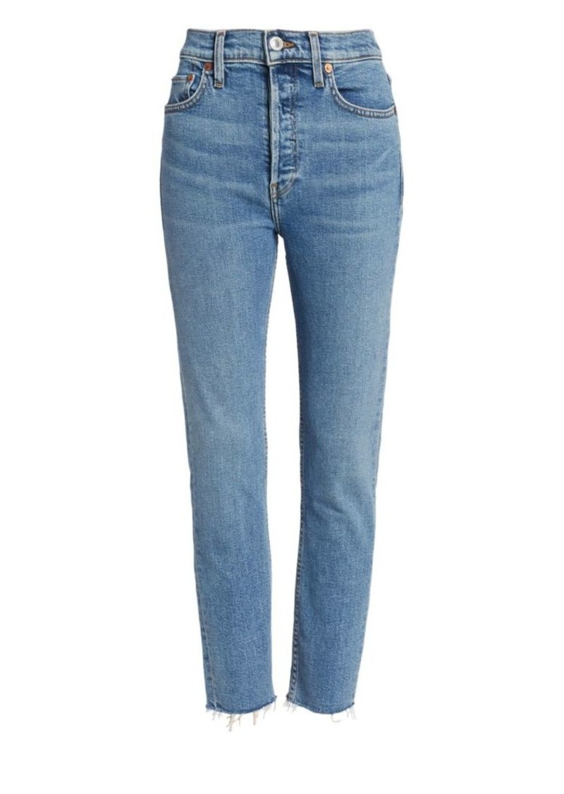 Re/Done High-Rise Comfort Stretch Ankle Skinny Jeans